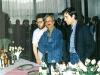 1991 - Eurocon w Krakowie. Na pierwszym planie Andrzej Sapkowski i Jarosław Grzędowicz